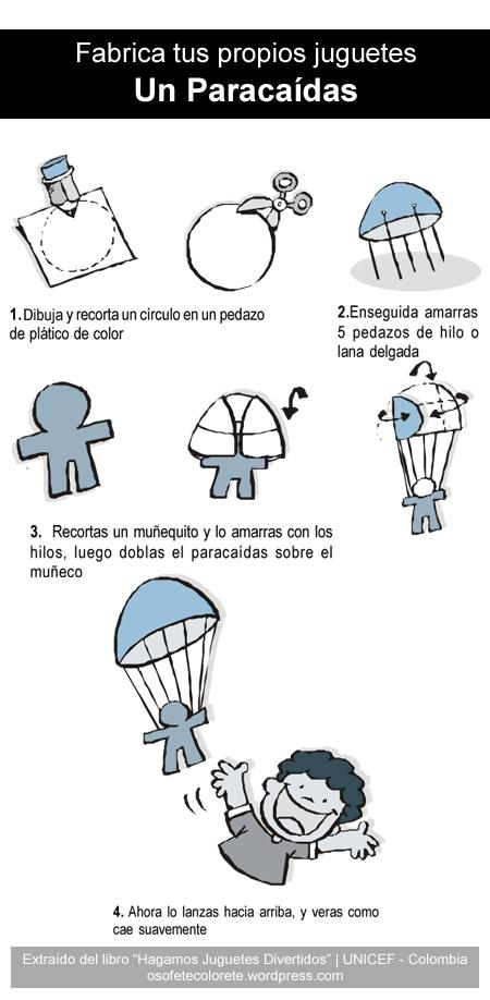 Resultado de imagen de paracaidas juguete como hacer