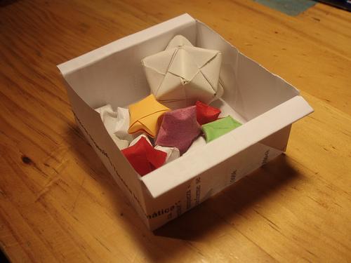 Cajita de papel osofete colorete - Como hacer farolillos de feria ...